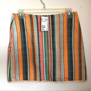 H&M tweed, multicolored mini skirt